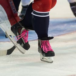 Ovechkin With Purple Laces