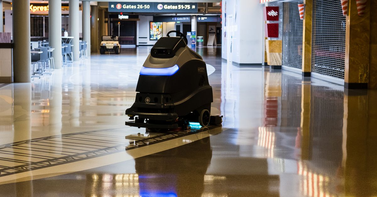 Pittsburgh's airport is the first in the US to use UV-cleaning robots