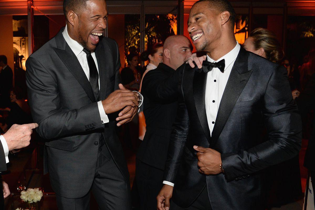 Strahan and Cruz at the Vanity Fair Oscar Party in 2015