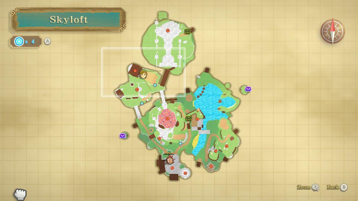 The Knight Commander location in The Legend of Zelda: Skyward Sword HD