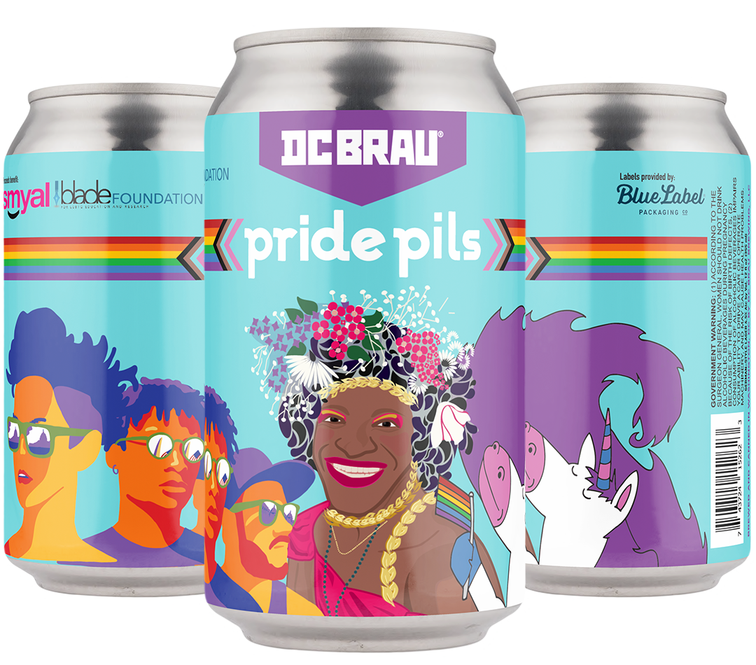 Colorful cans from DC Brau