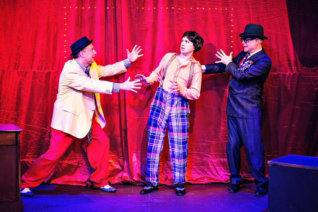 """Patrick Rybarczyk (from left), Roen Kent and Vince Kracht star in """"The Nance.""""