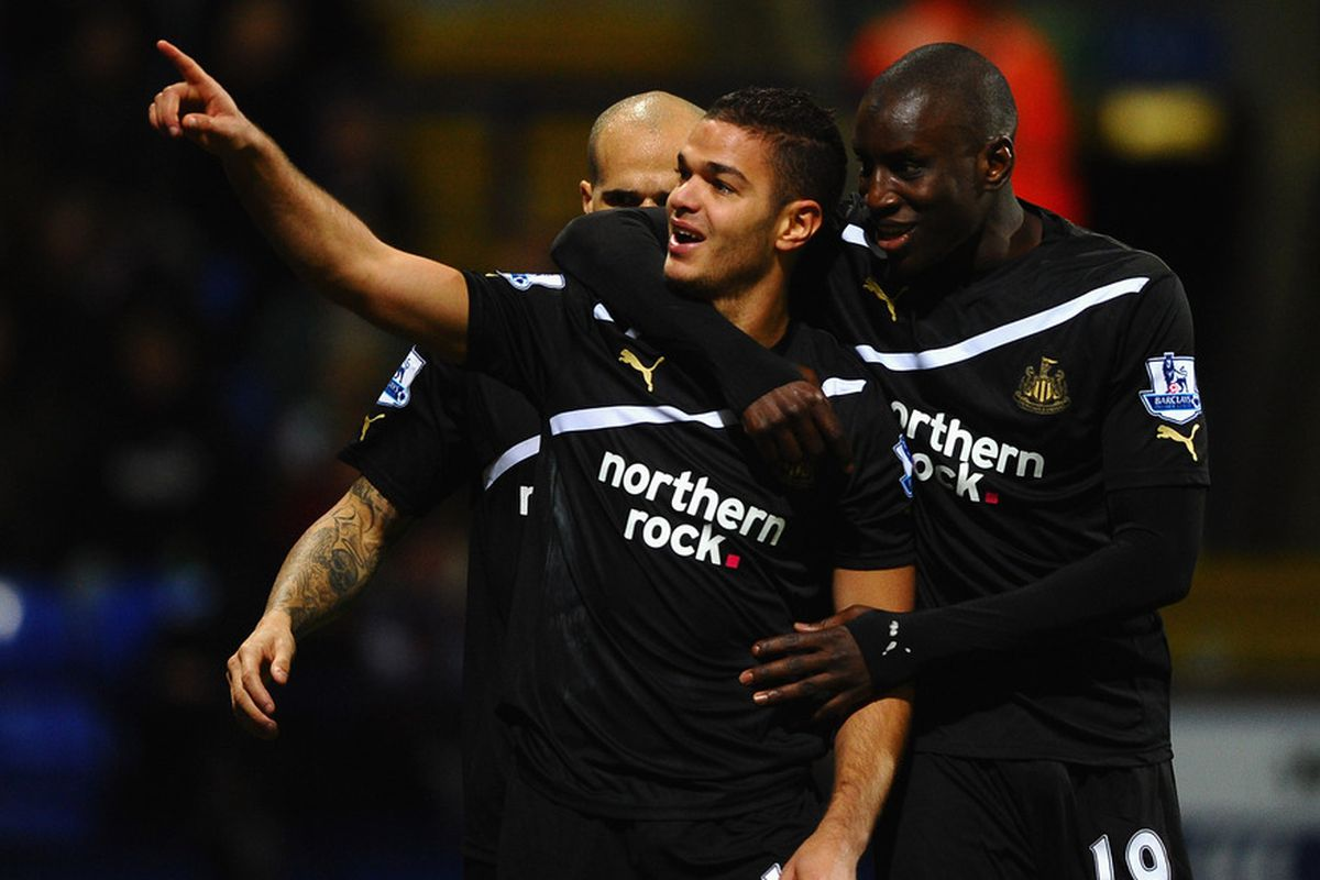 A great moment for HBA, Obertan, and the traveling Toon Army.