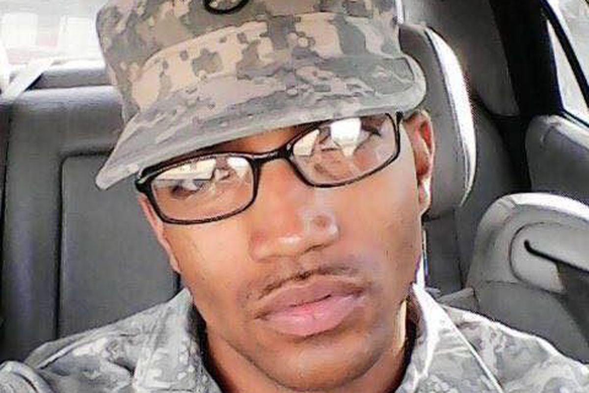 Picture of Cory Rhinehart wearing a military uniform.