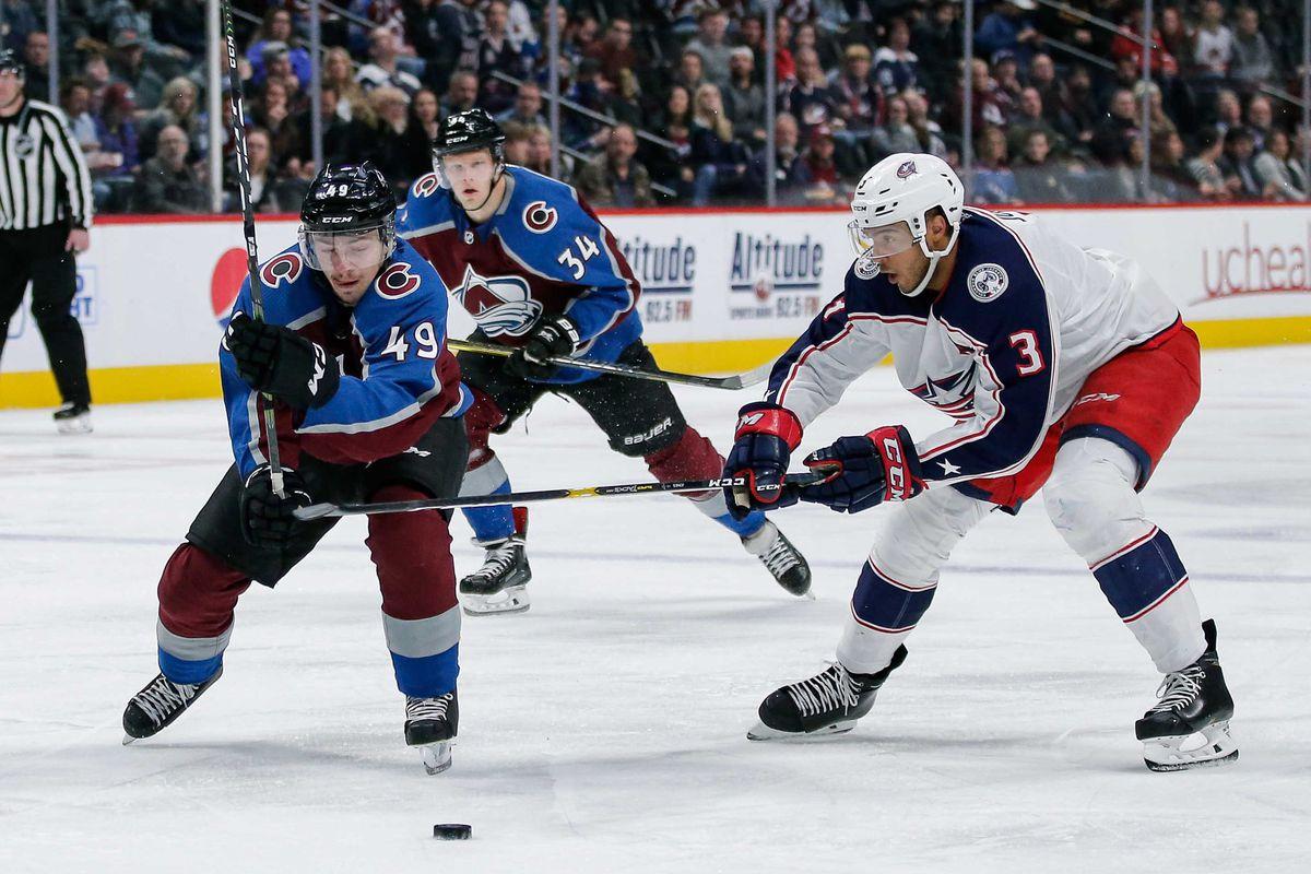 NHL: Columbus Blue Jackets at Colorado Avalanche