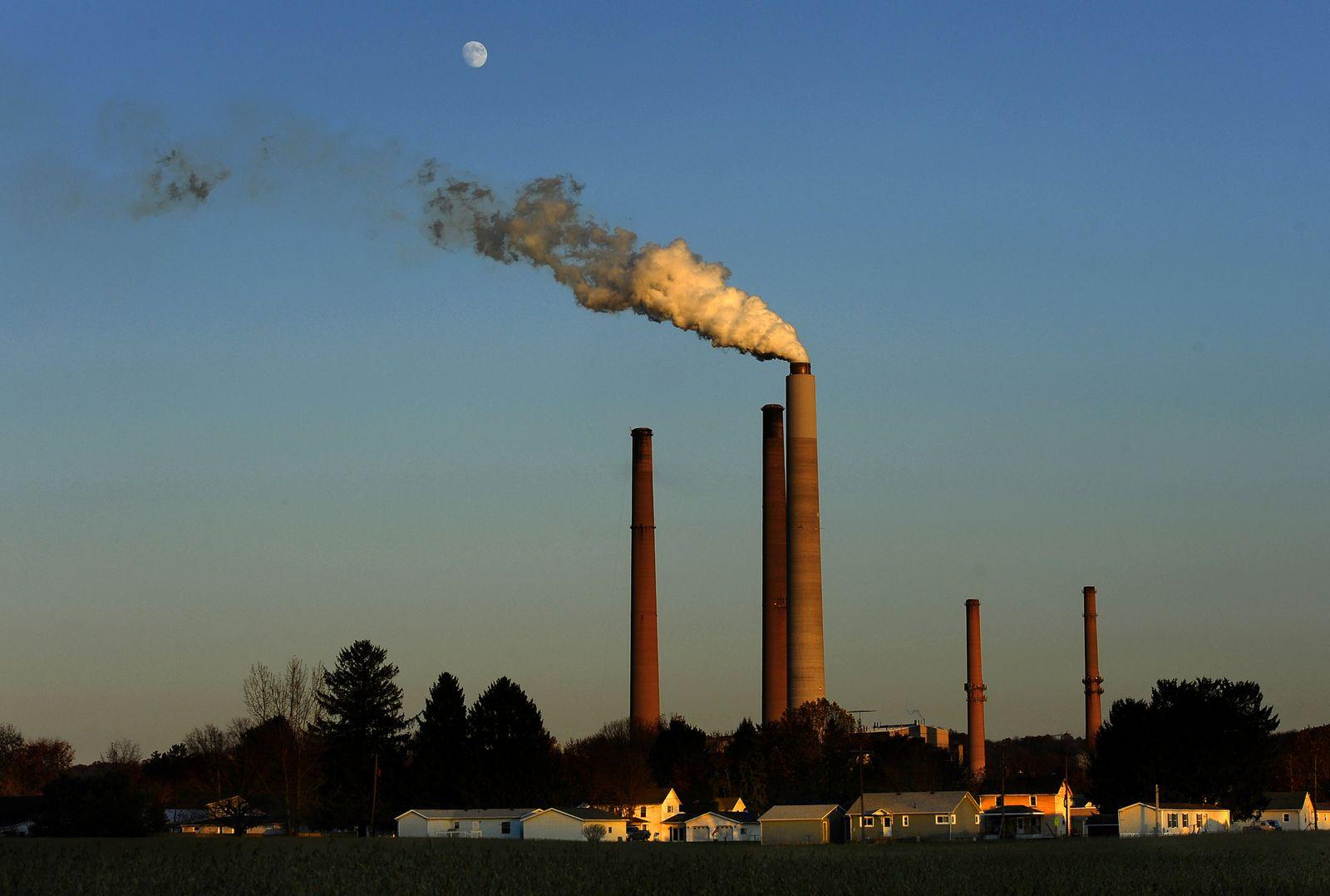 The A.E.P. (American Electric Power) coal burning plant in Conesville, Ohio.