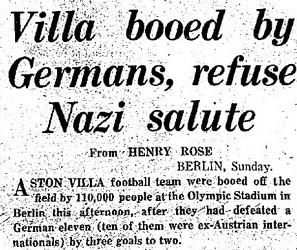 Villa beating Nazi's