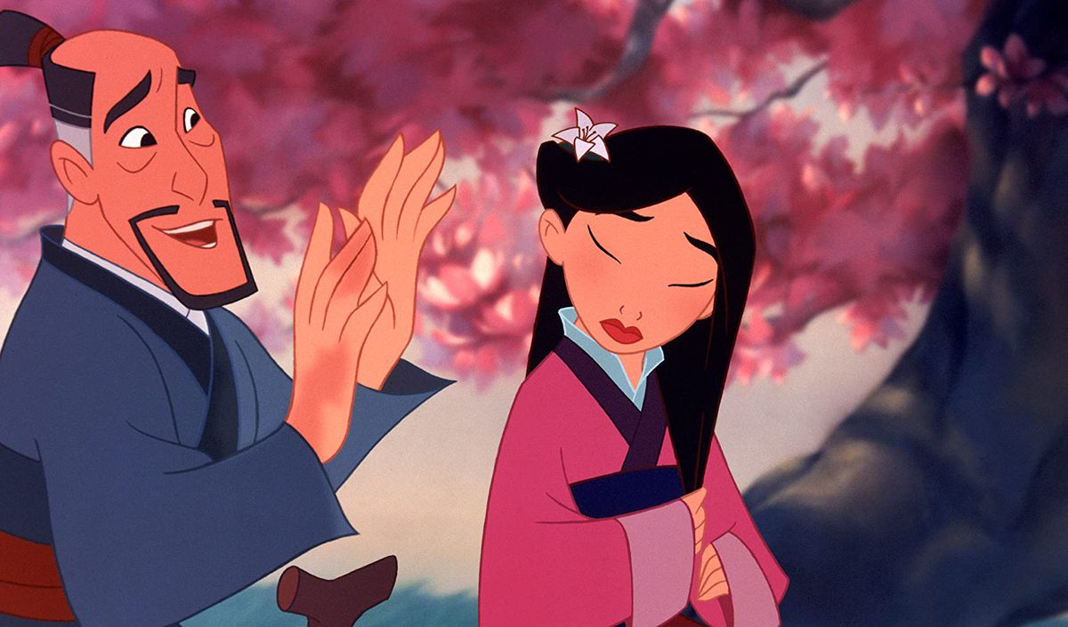 Mulan and her father