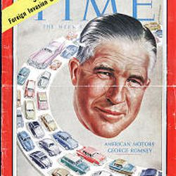 George Romney, Mitt's dad, was on the cover of the April 6, 1959, issue of Time magazine.