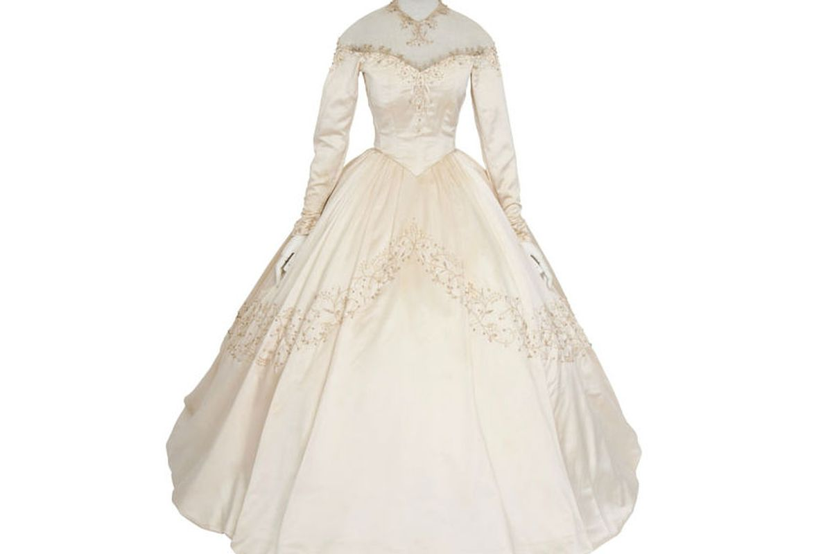 Elizabeth Taylor's first wedding dress, via Christie's