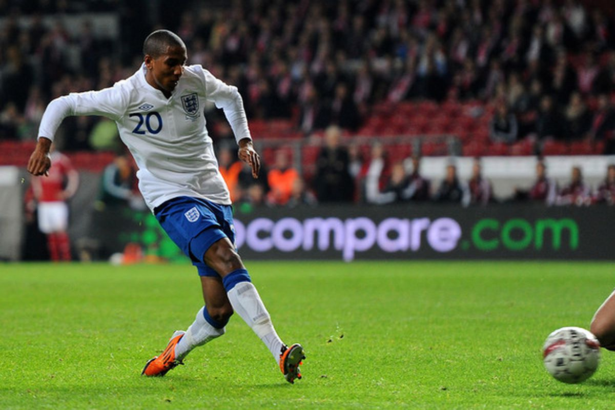 Ashley Young has shined recently in his appearances for England.  (Photo by Mike Hewitt/Getty Images)