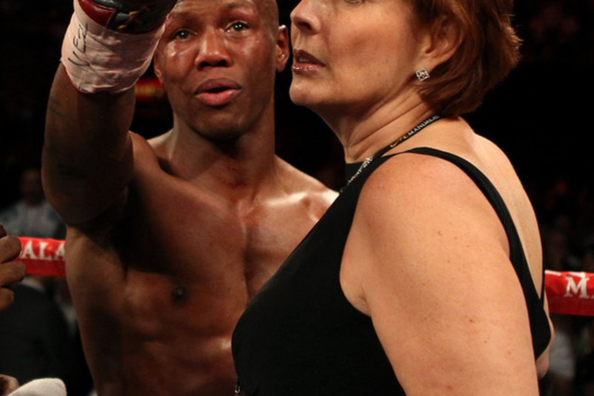 Zab Judah and Kathy Duva aren't done complaining about Judah's loss to Amir Khan. (Photo by Scott Heavey/Getty Images)
