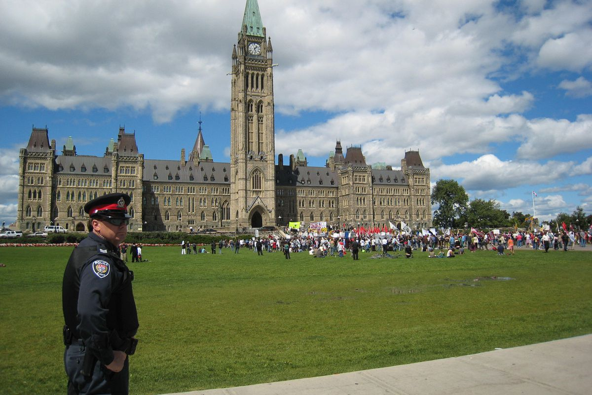 A 2007 photo shows the Canadian Parliament building in Ottawa
