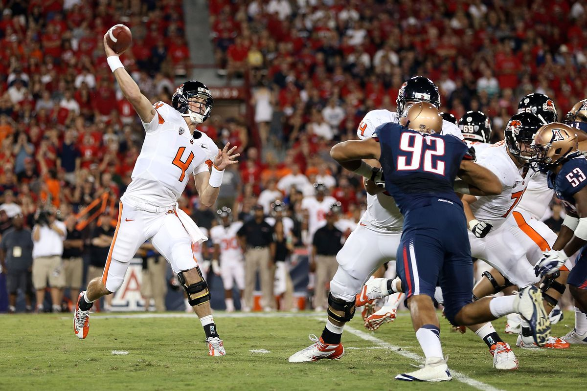 Sean Mannion's Game Winning Pass At Arizona Lifted The Beavers To 3-0