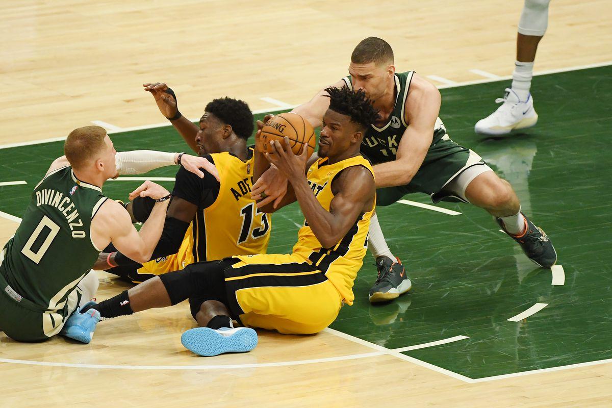 Miami Heat v Milwaukee Bucks - Game One