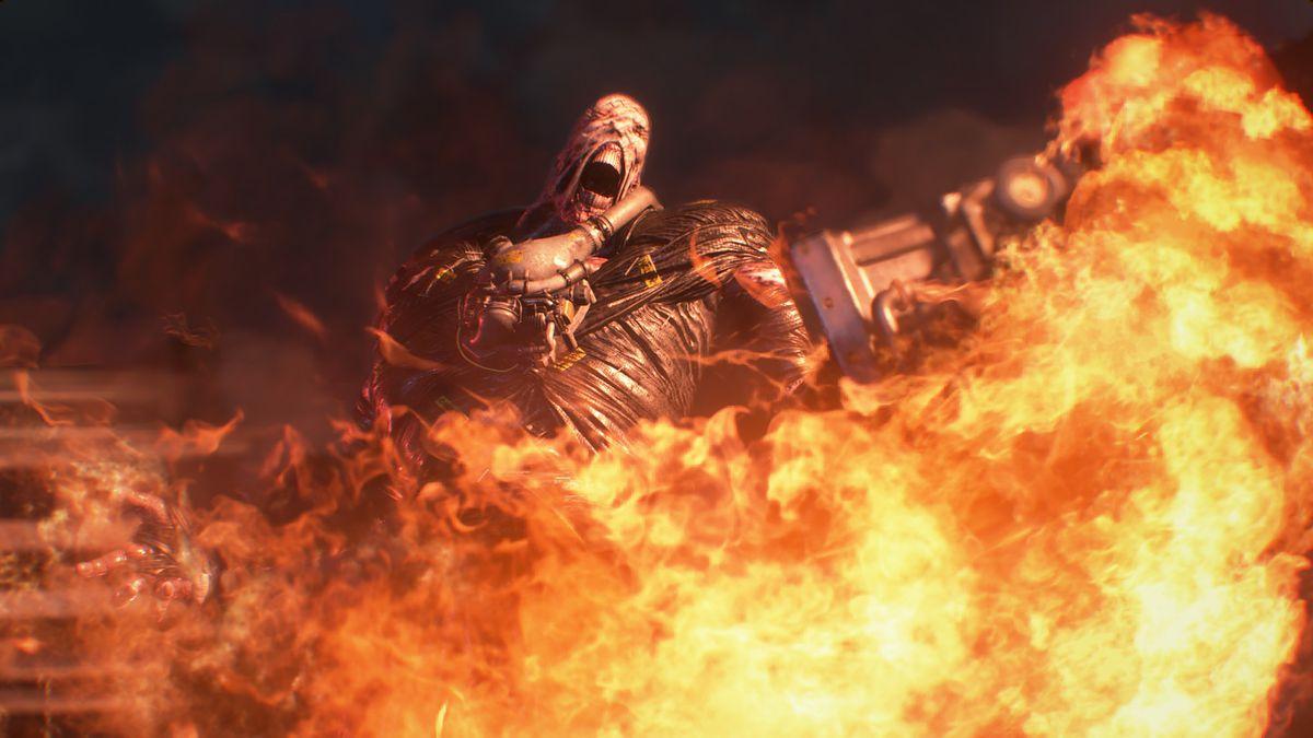 Nemesis moves through fire