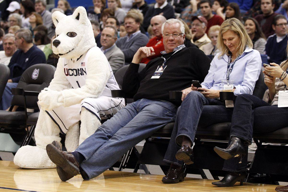 Sometimes even mascots just want to watch the game.