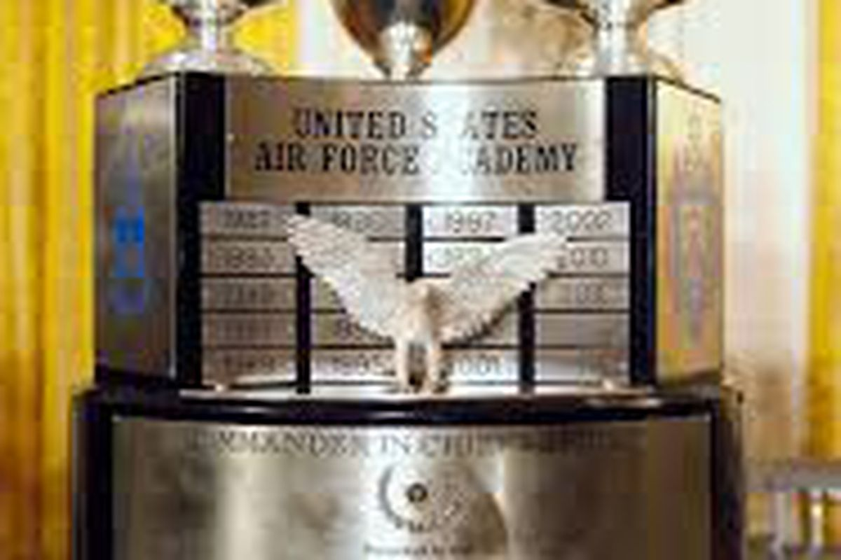 Trophy passed around between the Military Academies based off of which school wins the season series each football season