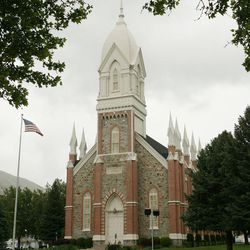 The LDS Church's Brigham City Tabernacle in Brigham City in 2008.