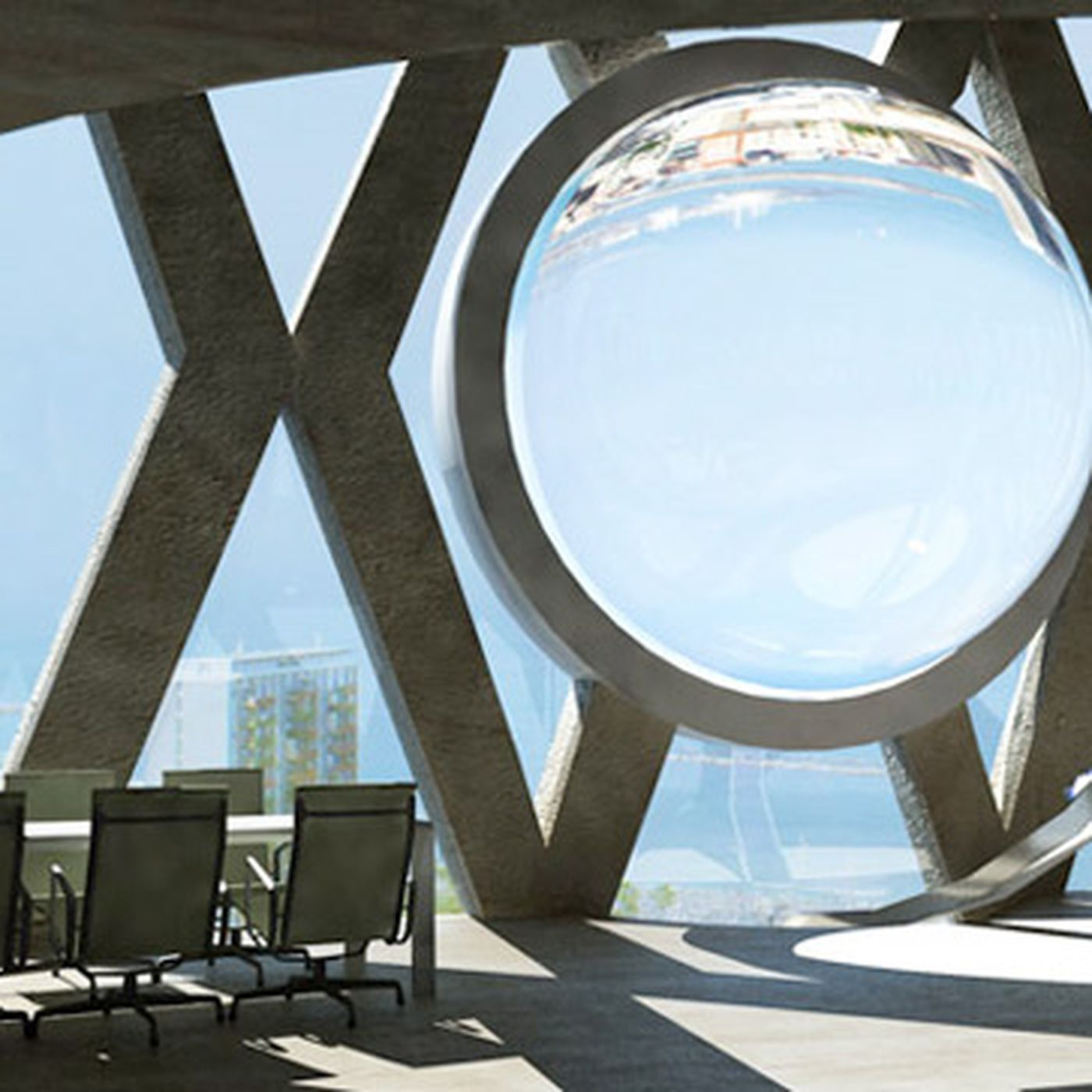 Eco-friendly art: Andre Broessel's glass orb helps maximize