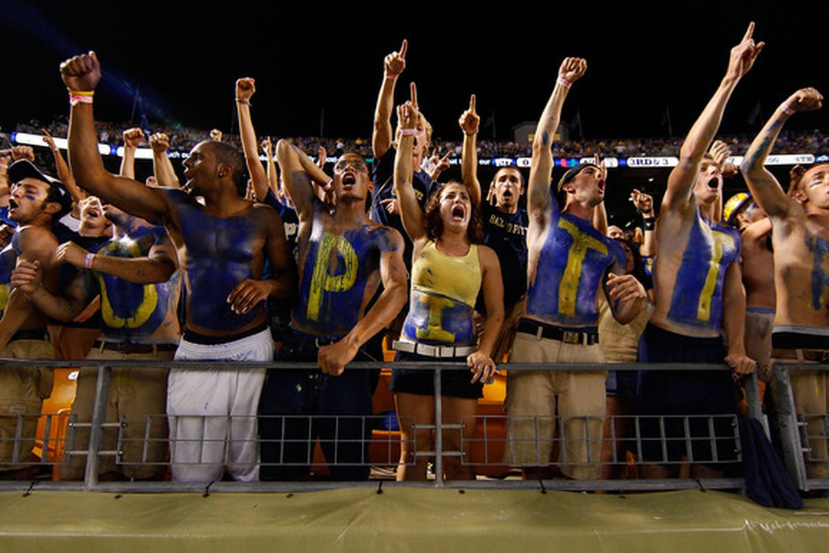 I don't expect to see many shirtless fans in the crowd for Pitt's baseball game on Saturday (Photo by Jared Wickerham/Getty Images)