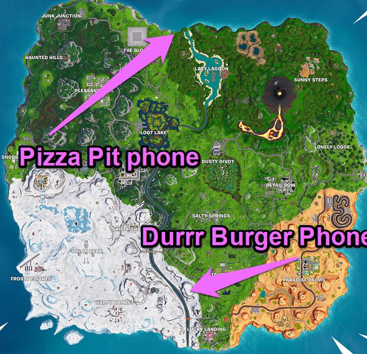 telephone map fortnite week 8 - fatal fields fortnite phone