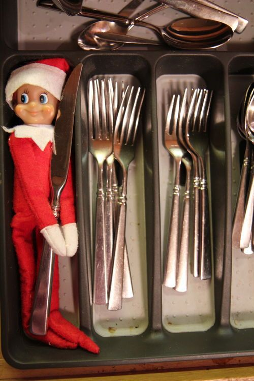 elf in silverware drawer