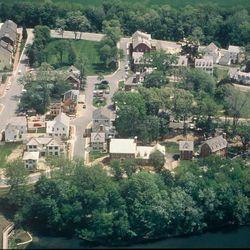 An aerial view of the Kentlands neighborhood in Gaithersburg, Md.