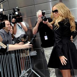 """""""American Idol"""" Season 12 judge Mariah Carey arrives for day one auditions at Jazz at Lincoln Center on Sunday, Sept. 16, 2012 in New York."""