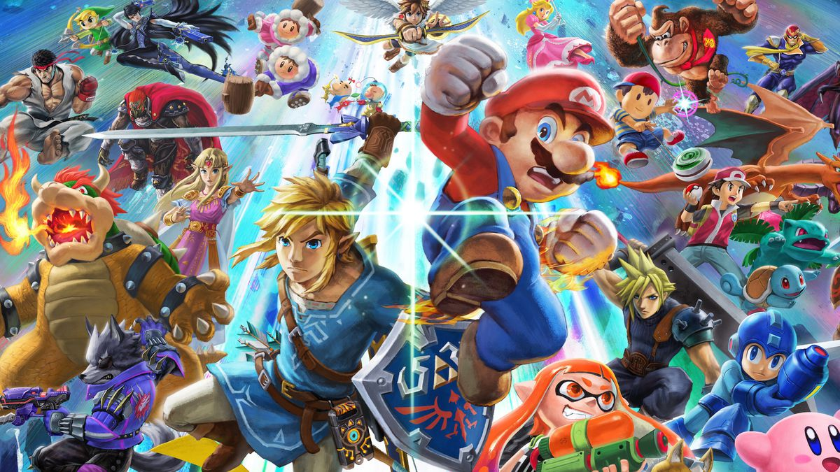 Super Smash Bros. Ultimate character collage