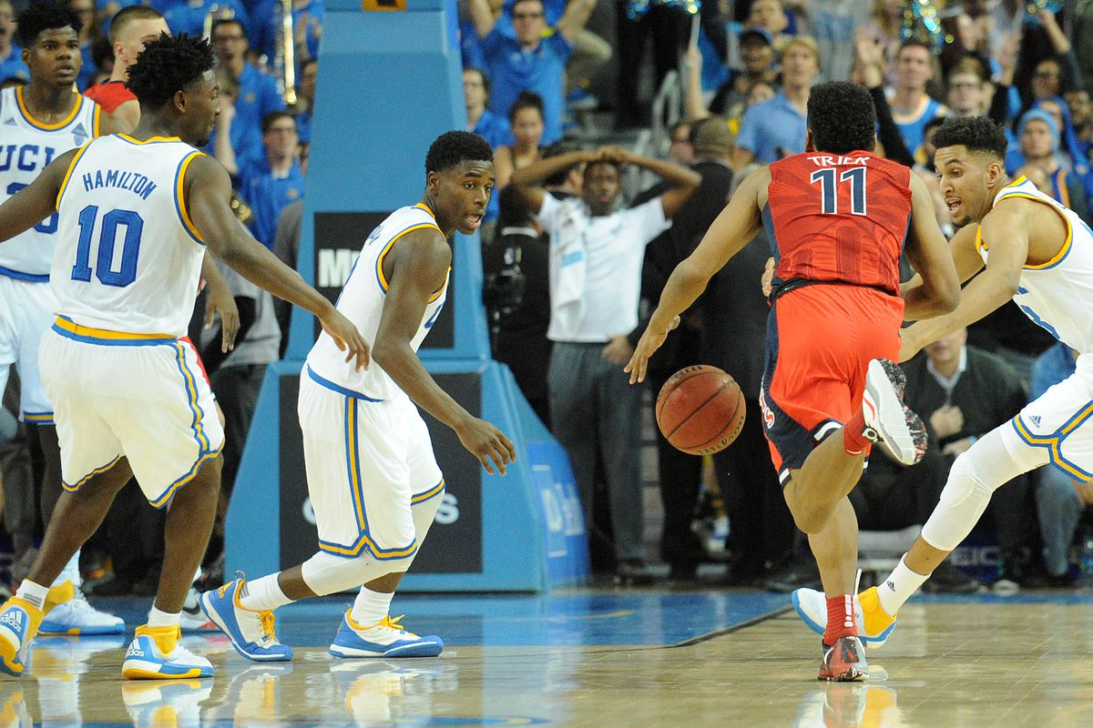 The Bruins will need to adjust to the fact that Allonzo Trier will be able to play today.