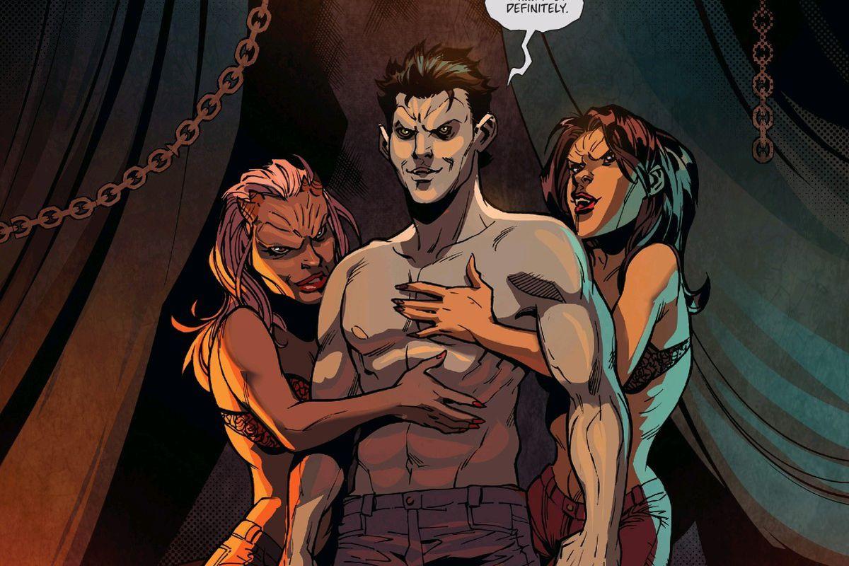xander as a vampire in Buffy the Vampire Slayer #16