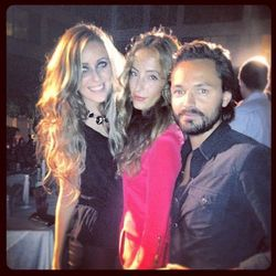 Stylehaus founder Marina Monroe with designers Parisa and Max Fowles