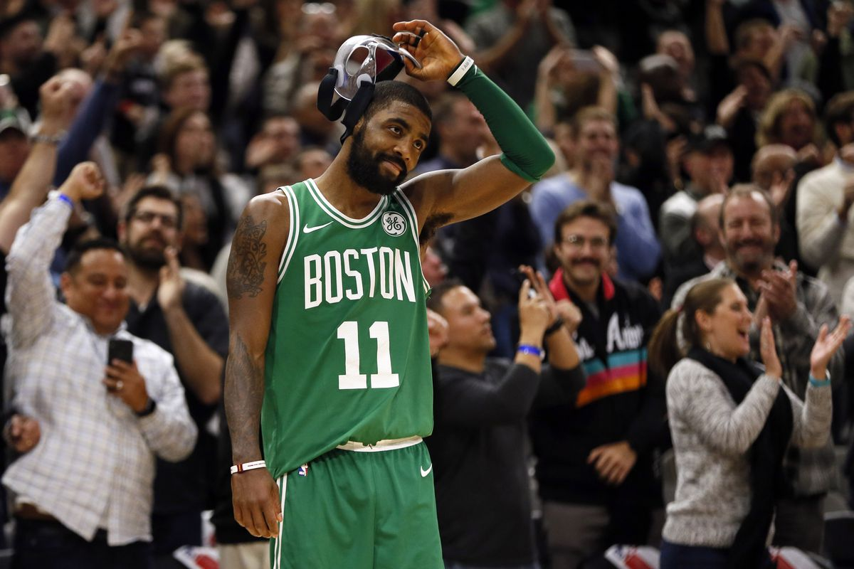 "promo code c0577 6d085 Boston Celtics star Kyrie ""Little Mountain"" Irving honored ..."