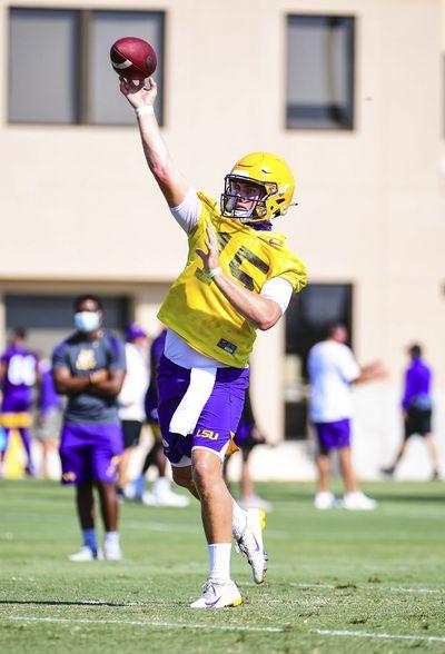 NCAA Football: Louisiana State-Practice