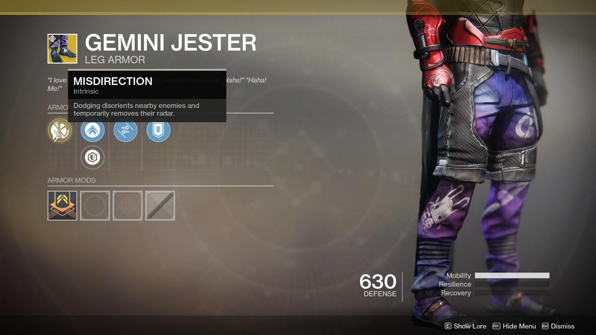 Gemini Jester Exotic Destiny 2