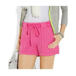 """<b>Splendid</b> Drawstring Cotton Shorts in Fuchsia, $40 (on sale from $98) at <a href=""""http://www.theoutnet.com/product/193811"""">The Outnet</a>"""