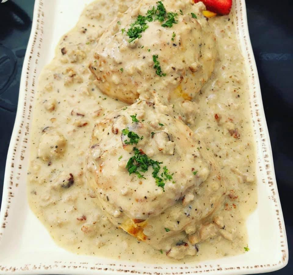 Biscuits and gravy from Egg