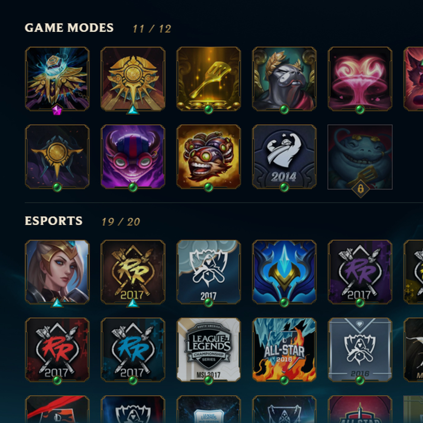 You can look at your icons and their origins in the Collection tab