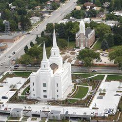 Aerial photos of the new Brigham City LDS Temple.  Tuesday, Aug. 14, 2012 (Stuart Johnson/Deseret News)