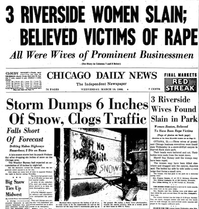 The Chicago Daily News front-page story on the Starved Rock murders