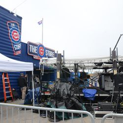 12:03 p.m. ESPN Baseball Tonight in front of the Cubs Store -
