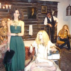 Models dressed in vintage, jewelry by DANNIJO, of course, and the gentleman's hat by Stetson
