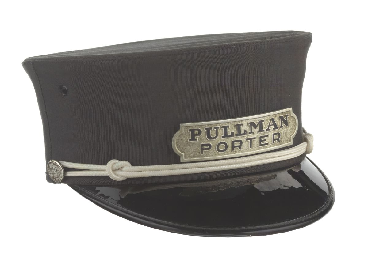 A uniform cap used by a Pullman porter.   Collection of the Smithsonian National Museum of African American History and Culture
