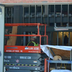 10:34 a.m. View inside another open gate on Waveland -