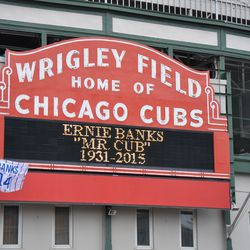 Tribute to Ernie on the marquee