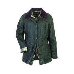 """Women's <a href=""""http://www.barbour.com/us/womens-clothing/jackets-coats/wax/classic-womens/beadnell-jacket"""">Beadnell Jacket</a> in Sage ($379)."""
