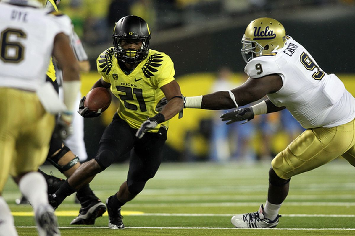 UCLA couldn't catch LaMichael James on the ground or stop Darron Thomas through the air.