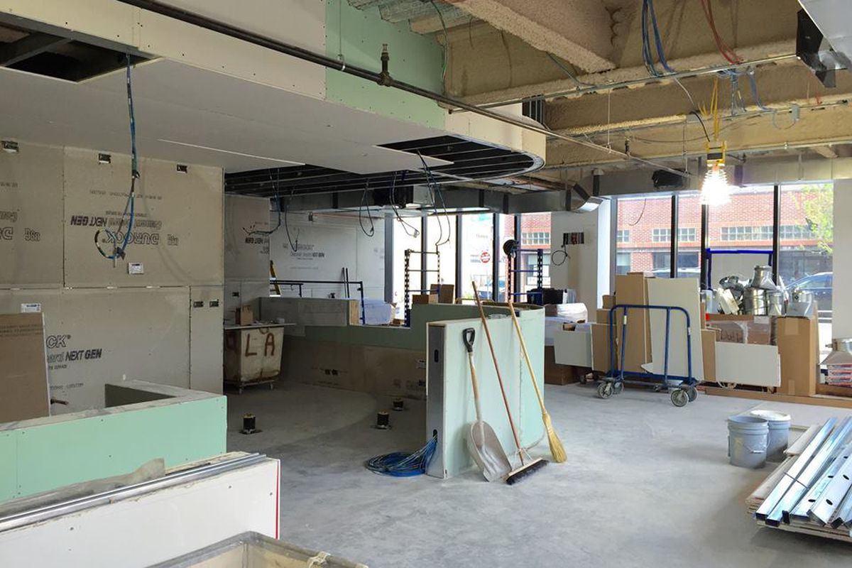 Dudley Cafe under construction this month