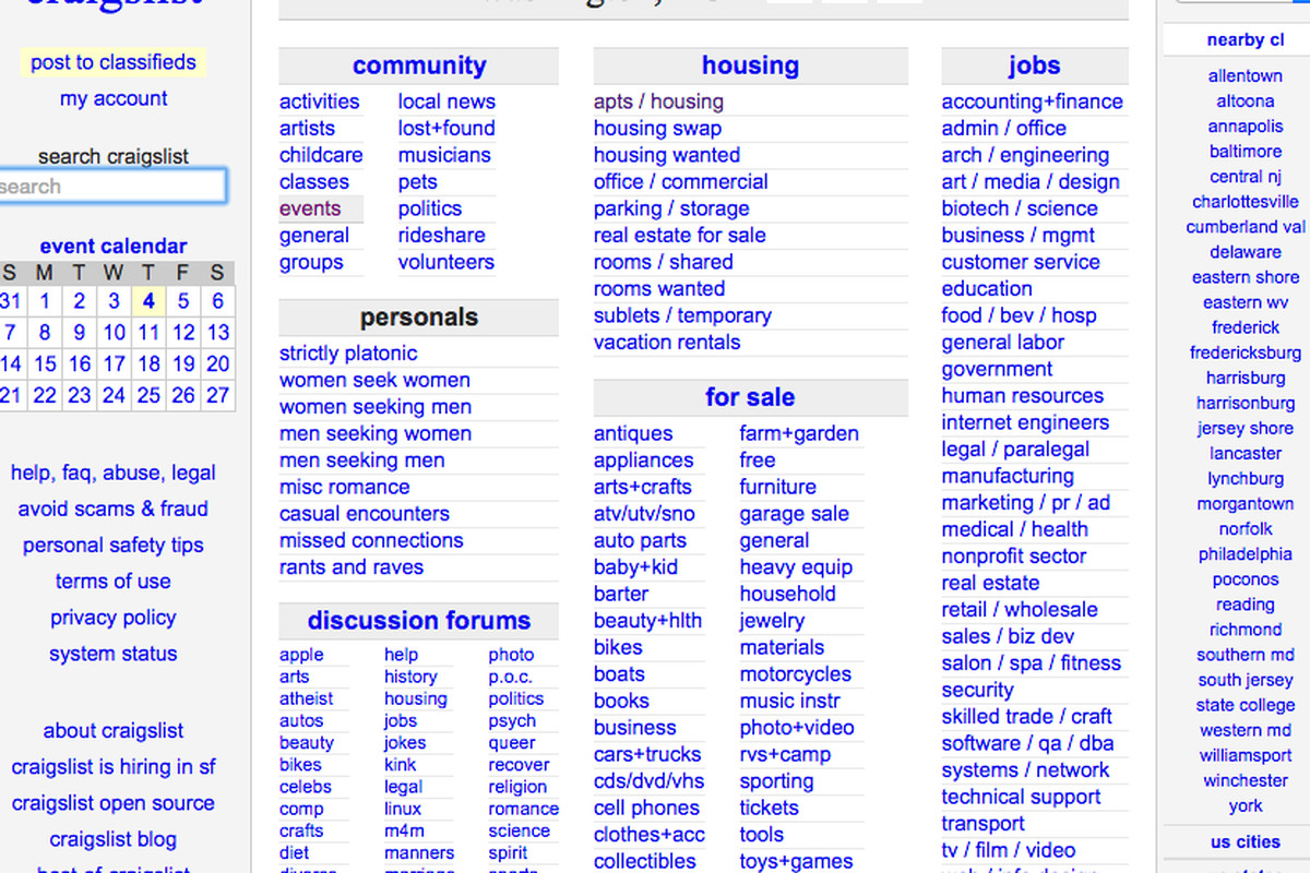 Five Alternatives to Craigslist